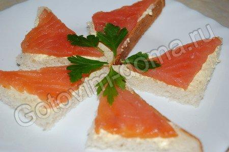 бутерброд с красной рыбой рецепт с фото