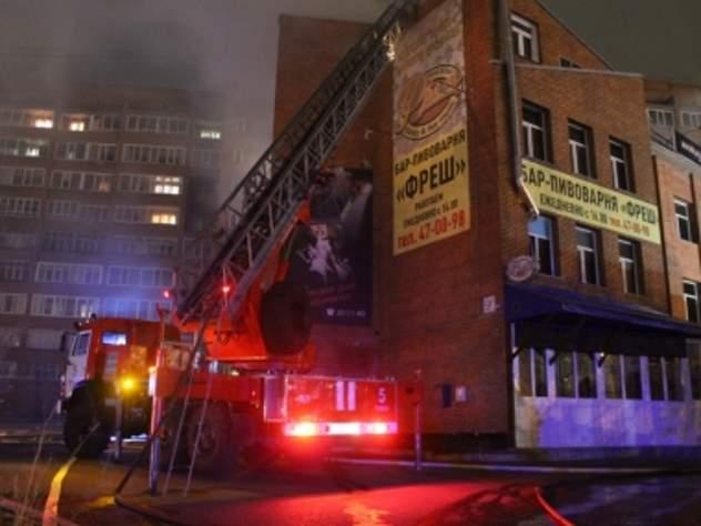Больше 100 человек эвакуировали из ночного клуба из-за пожара