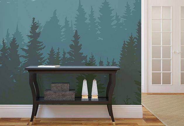 Декор в цветах: серый, светло-серый, сине-зеленый, бежевый. Декор в .