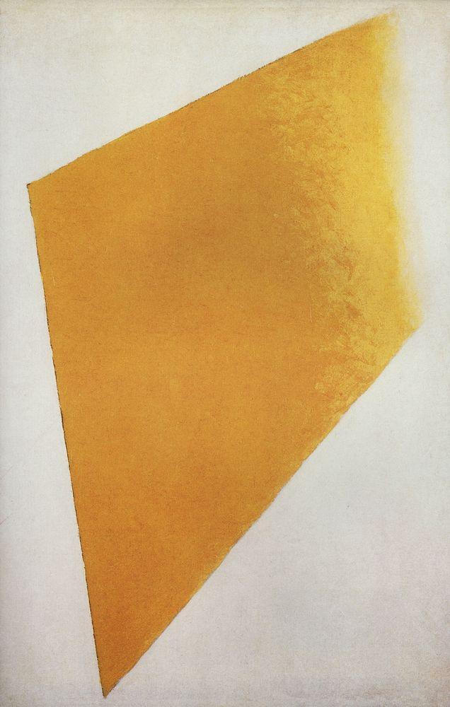 Желтый квадрат искусство, история, малевич
