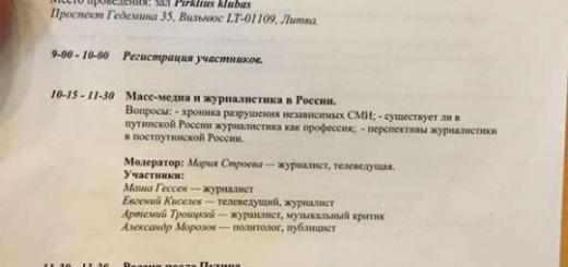В поисках гранта, или Белоленточная сходка в Вильнюсе