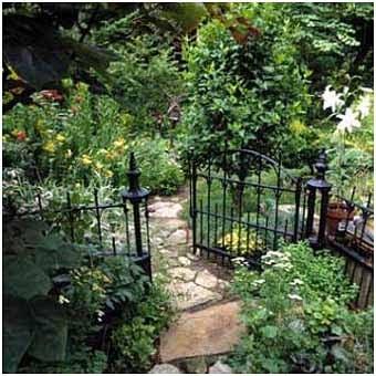 идеи садовых калиток
