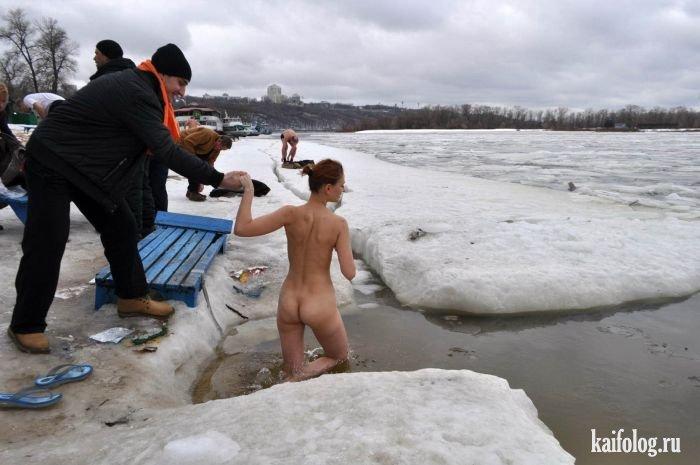 голые женщины в проруби фото