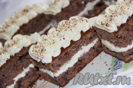 Домашнее бисквитное пирожное рецепт фото