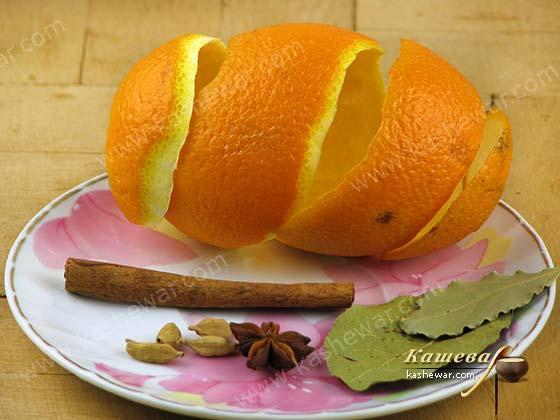 Цедра апельсина и специи для рагу из говяжьих хвостов