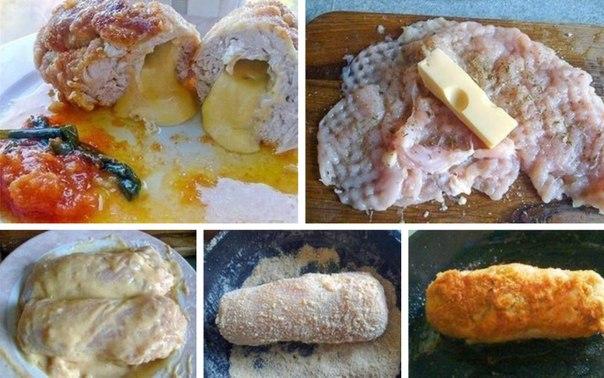 Нескучная грудка (куриная грудка с сыром в сухарях) Просто, быстро, вкусно ;)