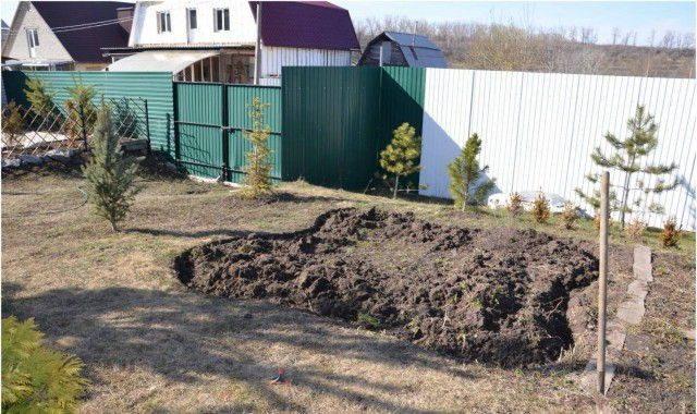 Делаем пруд перед домом