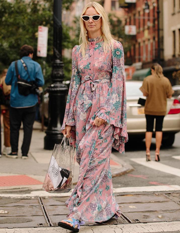 Лучшие платья гостей с Недели моды в Нью-Йорке