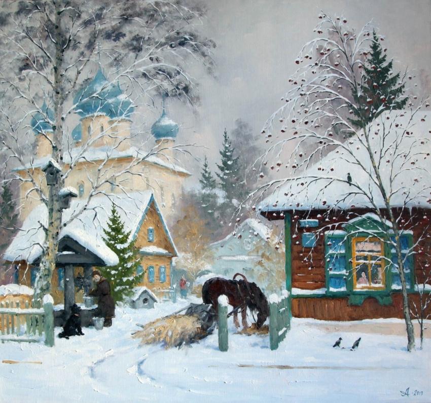 Русские пейзажи художника Александра Александровского