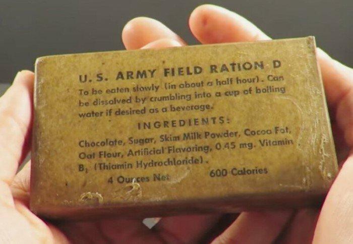 """Почему американские солдаты называли шоколад из своего рациона """"секретным оружием Гитлера"""""""