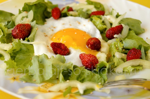 Легкий салат на скорую руку для диеты  «Дамский угодник»
