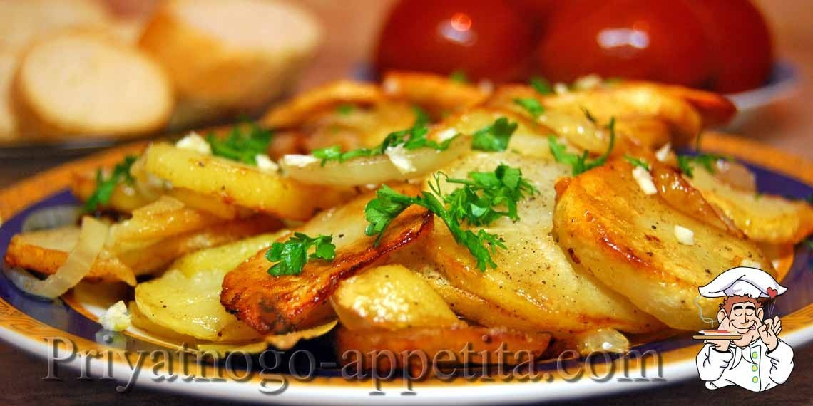 Рецепт жареной картошки на сковороде вкусный фото