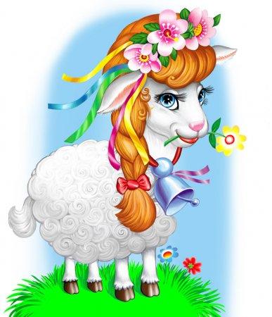 Схема вышивки крестом: «животное козочка — коза» скачать бесплатно