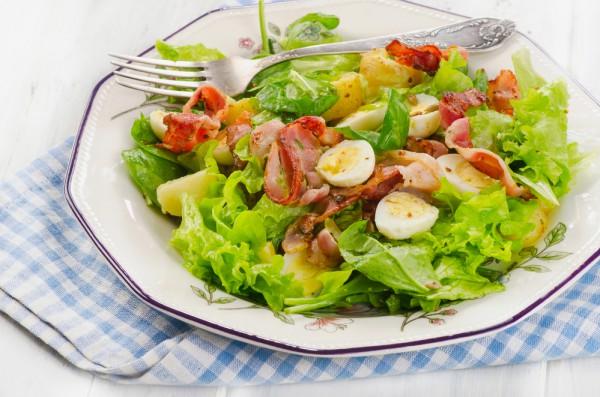 Салат из бекона рецепты с