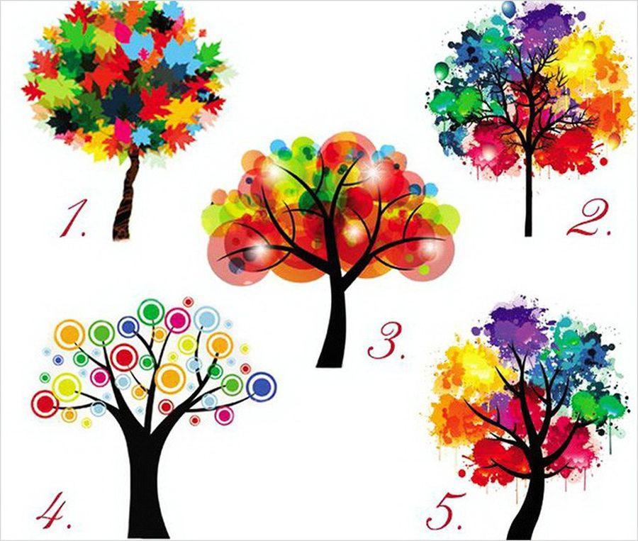 отличие психологический тест просто выбери дерево подходящих духов