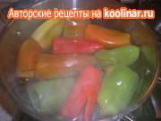 Перец фаршированный овощами из серии  Заготовки на зиму