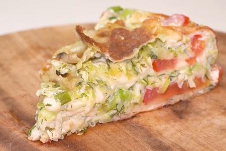 Фото к рецепту: Кабачковый пирог на сковороде