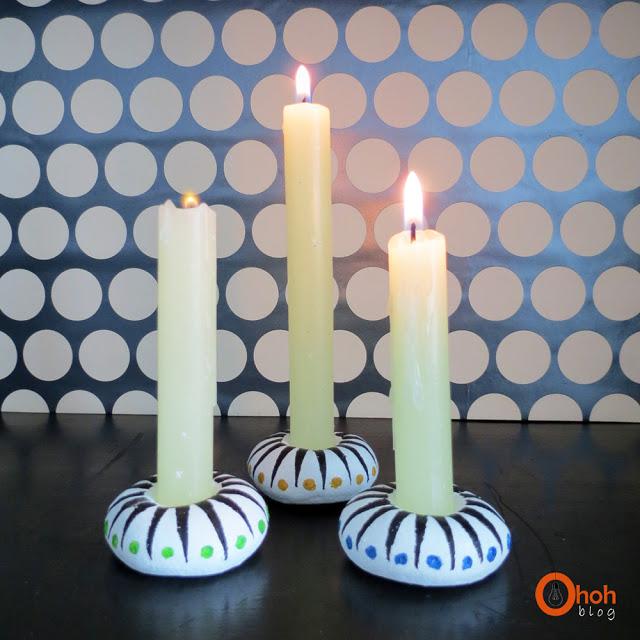 Из чего можно сделать подсвечник своими руками для длинных свечей 73