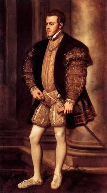 Тициан. Портрет короля Испании Филиппа II