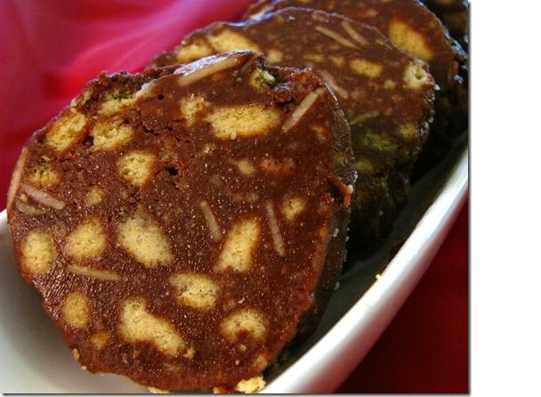 Сладкая колбаска. Пошаговый рецепт  десерт, еда