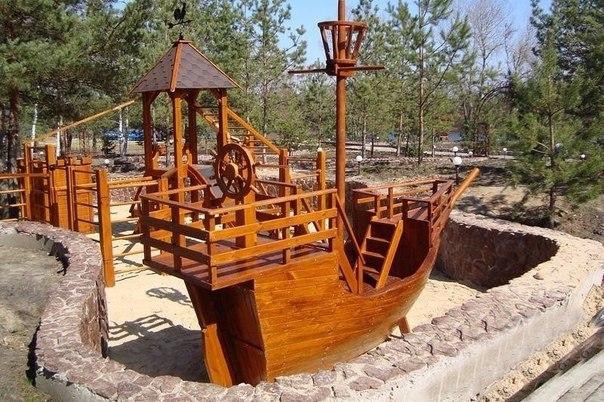 Как сделать кораблик для детской площадки фото7