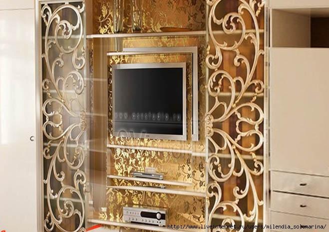 Как декорировать мебельную стенку фото