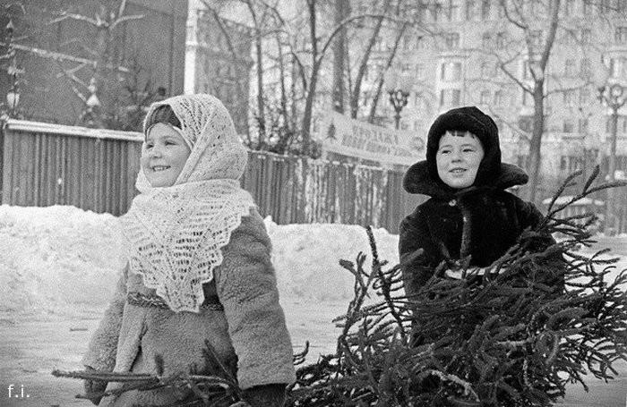 Новогодние фотографии из советского прошлого