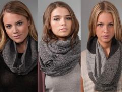 Как носить шарф-хомут или снуд?