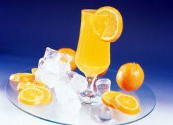 Напиток из замороженных апельсинов.
