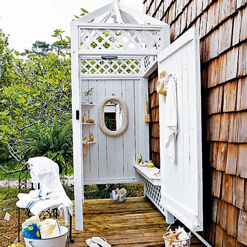 Летний душ на даче своими руками из кирпича фото и размеры