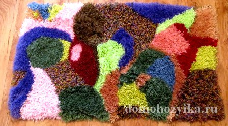 Сделать своими руками коврик из ниток