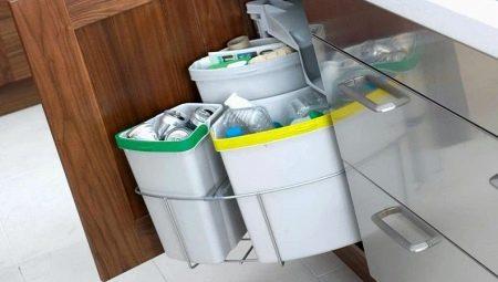Встраиваемые мусорные ведра: виды и рекомендации по выбору