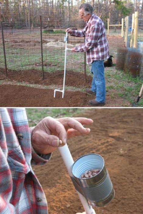 Устройство для высадки семян.