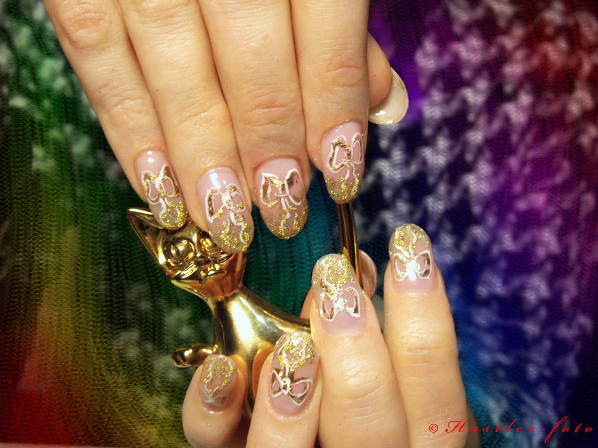 Дизайн ногтей гель фольга блестки