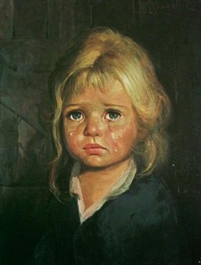 картина плачущая девочка