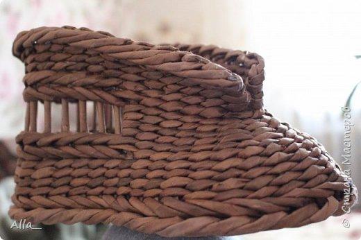 Мастер-класс Поделка изделие Плетение Как я делаю башмак Трубочки бумажные фото 16