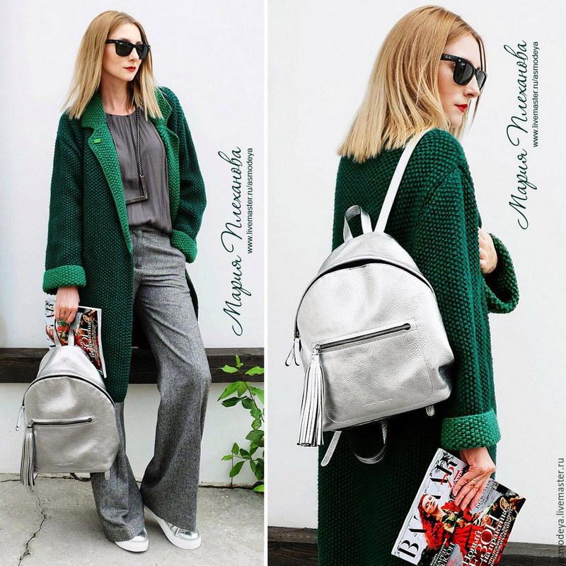 Вязаное пальто - достойная альтернатива на осень и весну