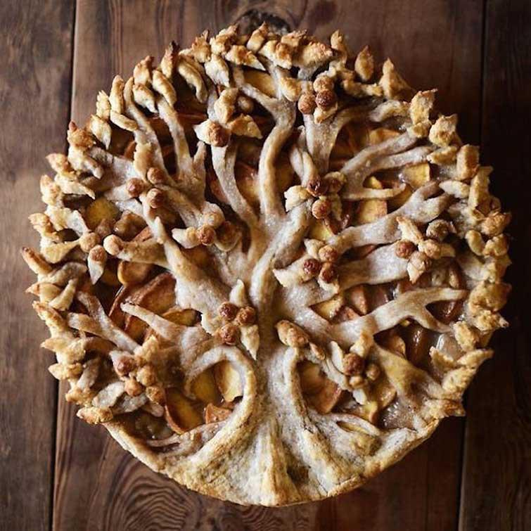"""Пирог """"Растущее дерево"""" выпечка, красивая еда, кулинария, пироги"""
