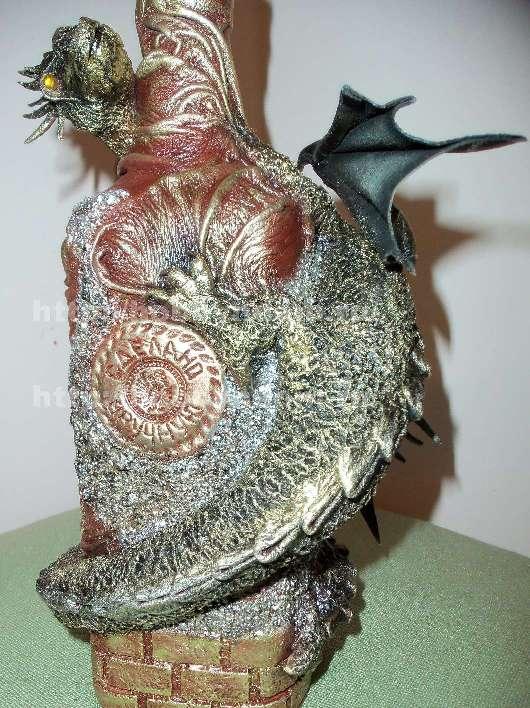 d 102 МК.Декор бутылки Сокровище дракона часть 1.