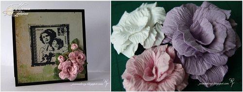 Цветы из плотной бумаги