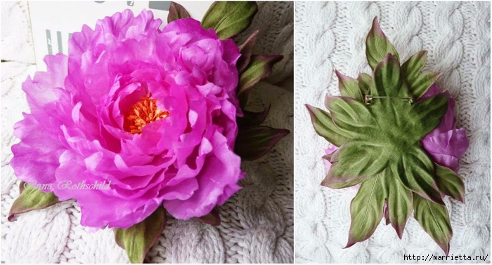 Цветы из шелка от Inna Rothschild (6) (700x378, 230Kb)
