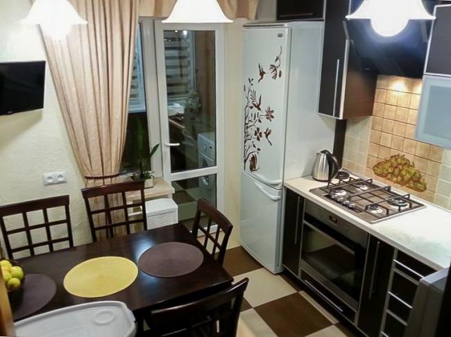 Контрастная кухня 8 кв.м. в современном стиле (12 фото)