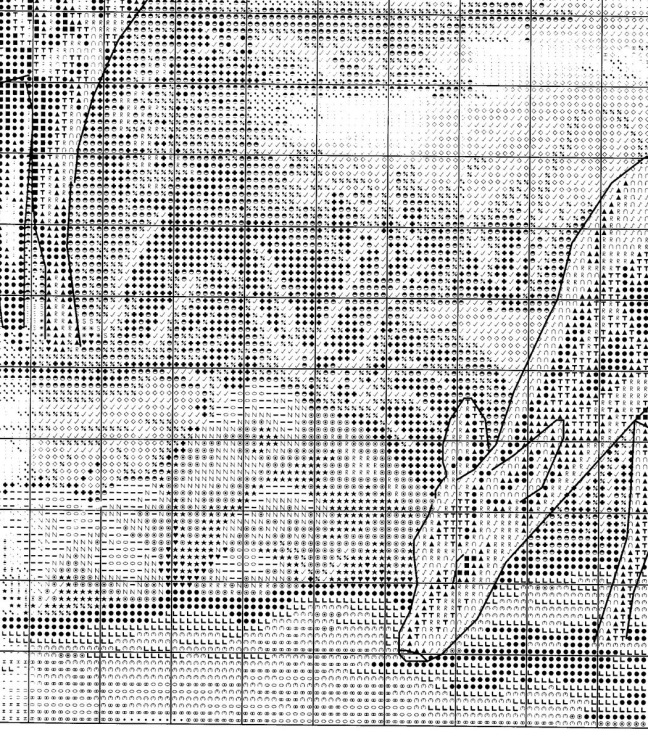 Вышивка олени у водопоя