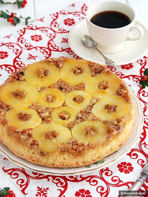 Яблочный тарт с грецкими орехами