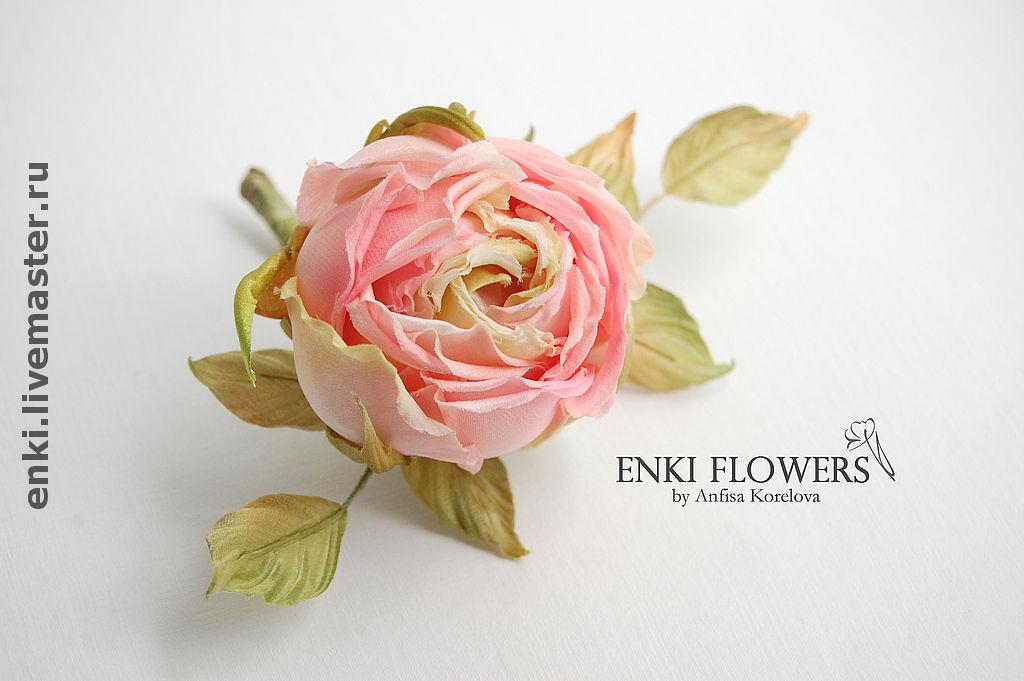Цветы из шелковой ткани