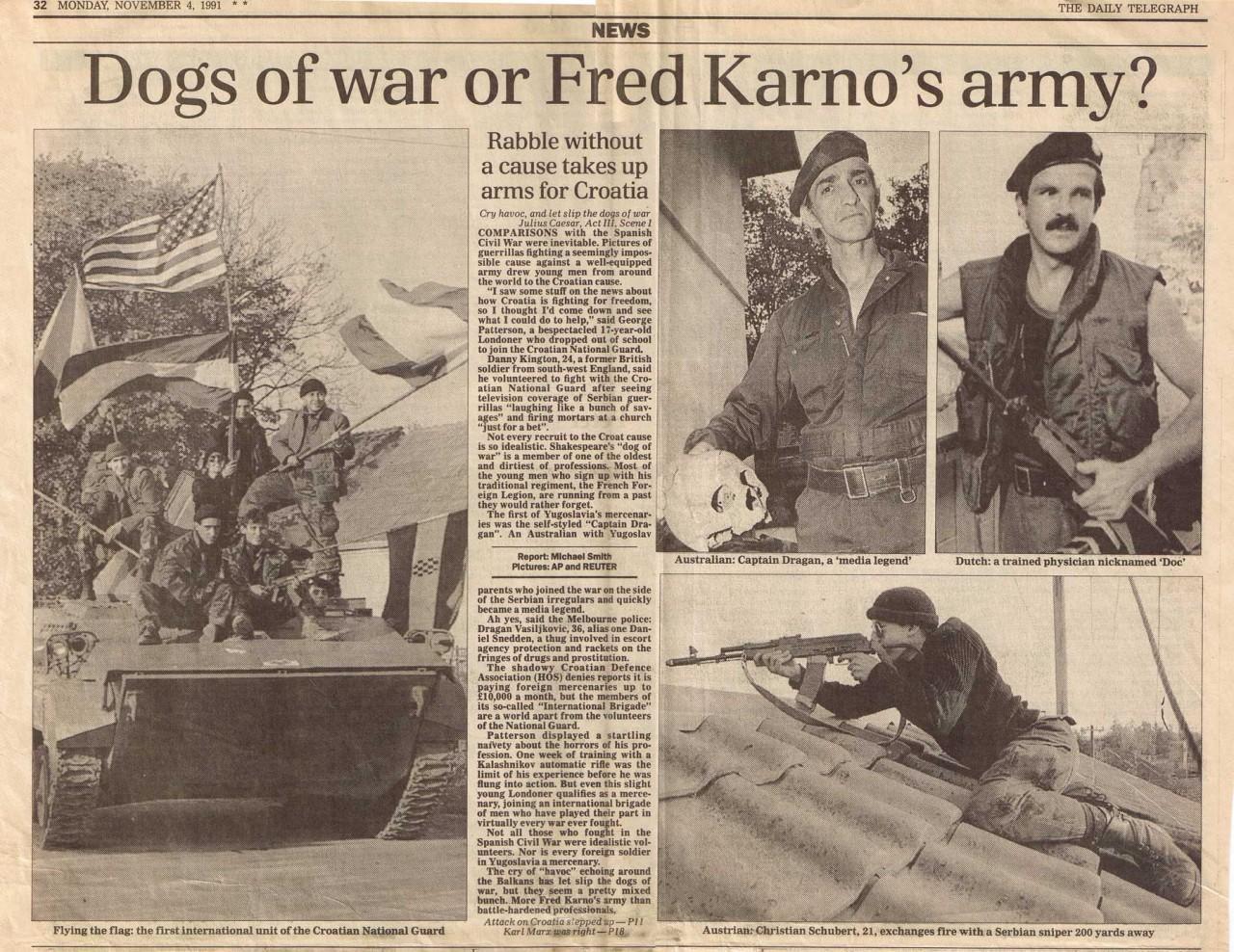 Европейские наемники на югославской войне