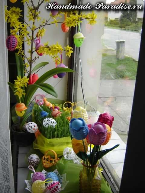 Обвязка крючком пасхальных яиц (6)