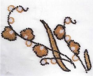 Наплечный узор для вышивки бисером