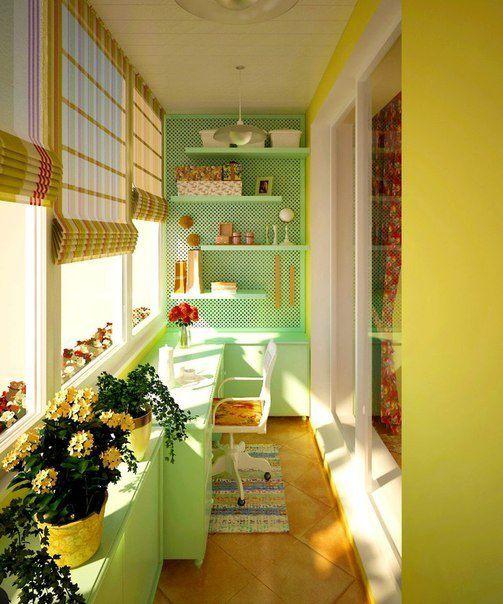 Интересные интерьеры балконов..