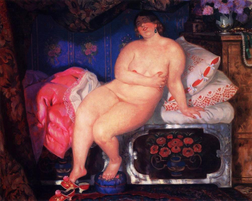 """Борис Кустодиев, """"Красавица"""", 1921 год"""